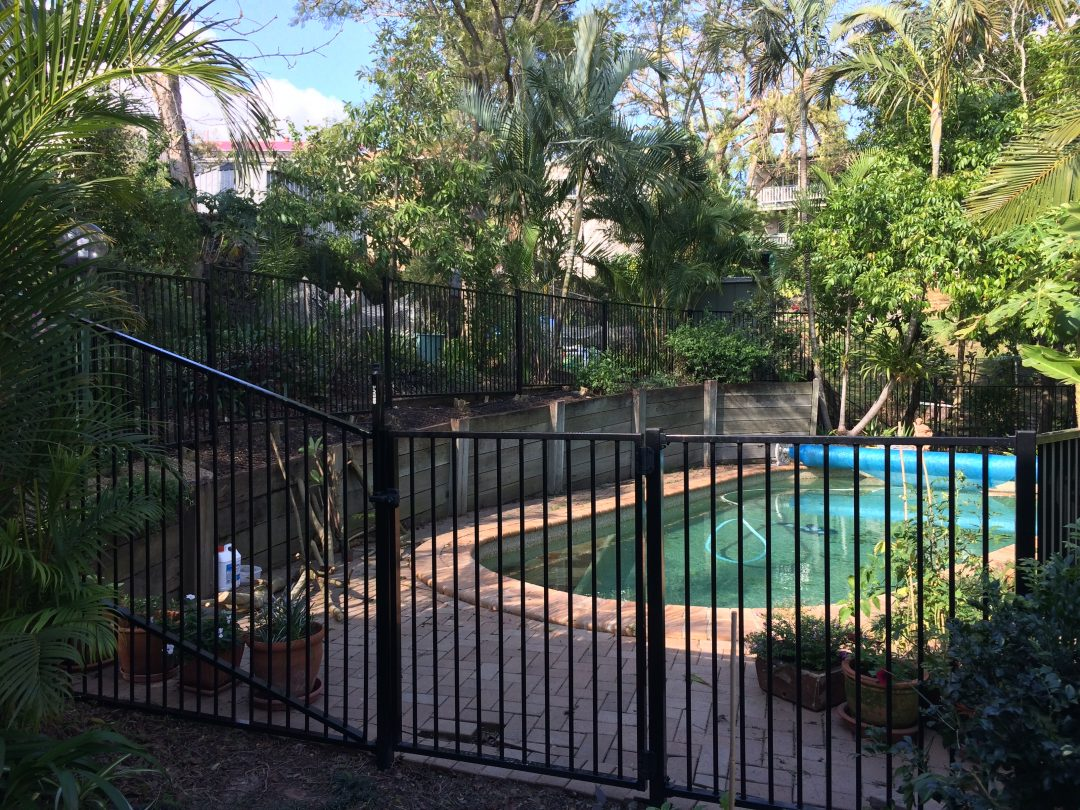 Pool fence at Annerley