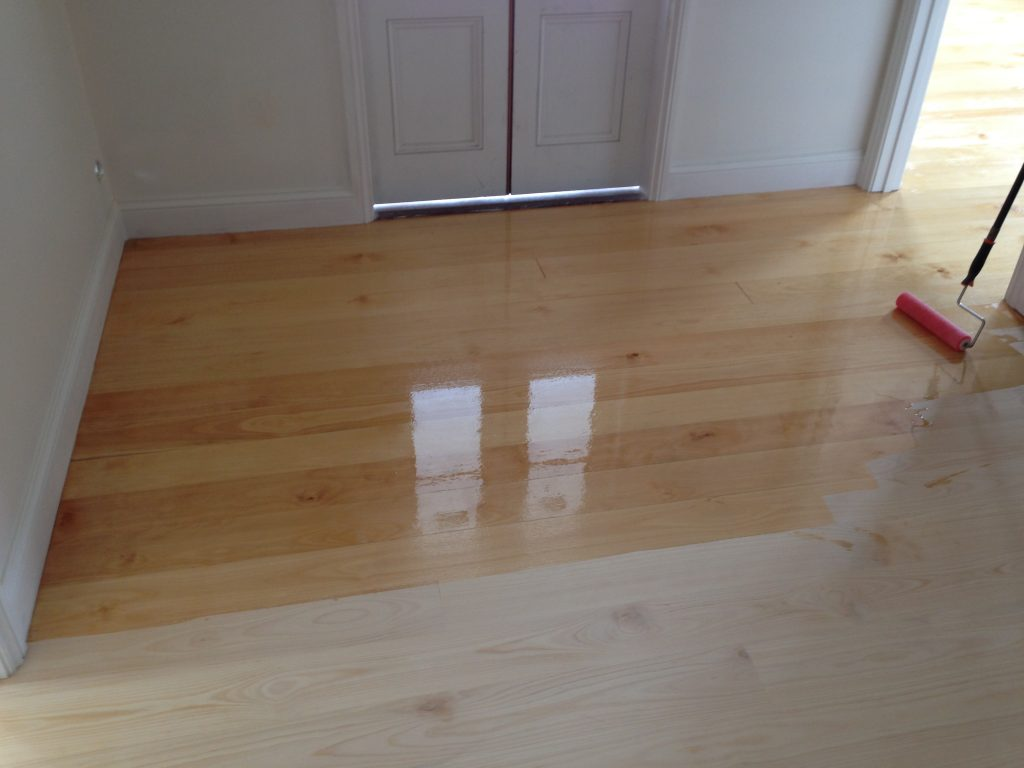 Before And After Finish Is Applied To Floors